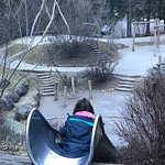 Parco giochi in inverno