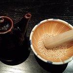 Sesame with Tonakatsu sauce