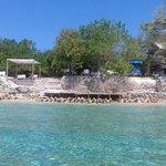 frente al Ecohotel están los arrecifes de coral