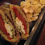 Mozzarella Tomato Panini with nut-less pesto! Delicious!!