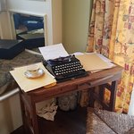 Margaret Mitchell's type writer & desk (or a model of it).