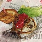Swiss /Mush burger