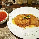 Vaso's Veal Francese with pasta