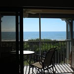 Top Unit Ocean Front Living Room Balcony View
