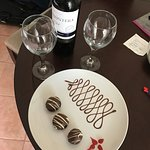 Wine and truffles left for us in the room