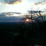 Sunset, January 13th from Pilot Mountain, which is directly across US 52 from Pilot Knob Inn.