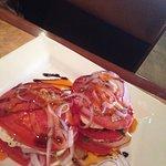 Tomato and mozzarella stack