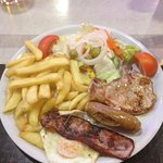 mixed grill with salad