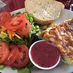 Quiche special of the day with salad