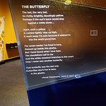 Butterfly poem from special exhibit.