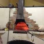 The brick oven.