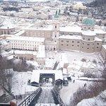 Blick aus der Festungsbahn auf den Dom