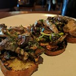 The Mushroom toast....A MUST! Flavor explosion in your mouth!