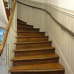 The old service staircase-- tiger oak and wrought iron. Gorgeous!