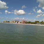 view from pier, downtown Fort Meyers