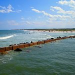 The jetties that parrallel the pier, Ft. Clinch State Park, Amelia Island