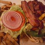 Burger at the Lounge