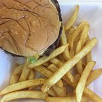 Burger and fries! Delicious!