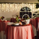 Tables under the tent - rehersal dinner