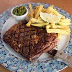 New York Steak with French Fries Provenzal