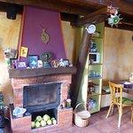 Cozy dinner corner for communal meals