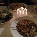 Risoti and salad