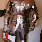 One of the three full suits of armour in the reception foyer
