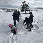 Plenty of soft snow in the RV park to build snowmen! (MLK weekend 2017)