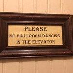 warning for elevator. LOL