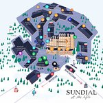 Aerial Illustration Map of Sundial & Whistler Village