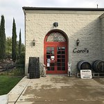 Entrance to Carol's restaurant; directly adjacent to Baily Winery