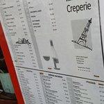 Creperie menu