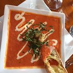 tomato soup with basil on top...really good