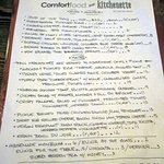 ComfortFood menu
