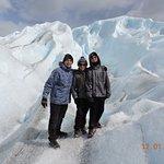 Caminando en el glaciar