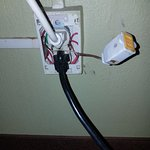 Exposed outlet with spliced in receptacle!