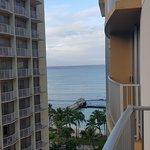 View of Waikiki beach from our room