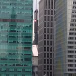 View of the 'Ball Drop' at Times Square (testing of it on New Years Eve morning)