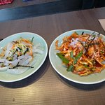 The Mung Bean Jelly and Spicy Squid Salad