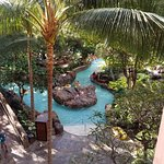 Lazy river view from room