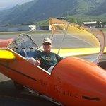 Me after second flight flying sailplane.
