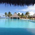 The pool/bar/Calypso restaurant area