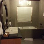Deluxe room with garden view - newly renovated bathroom. Shower area is at the opposite end