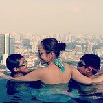 SG skyline from infinity pool