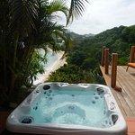 hot tub at Rock Fig villa