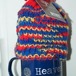 Hand knitted tea cosies - a speciality!