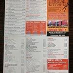 121 Tong yu Chinese kitchen menu