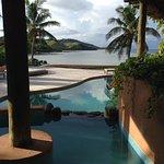 Pool and view Villa Malolo