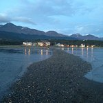 View from Beagle Channel to hotel