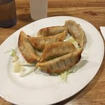 Mongolian beef and potstickers